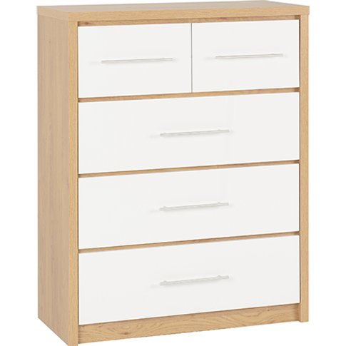 Seville Wooden Large Chest Of Drawers In White High ...