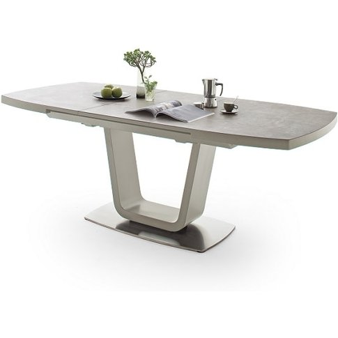 Shelby Extendable Dining Table Rectangular In Taupe