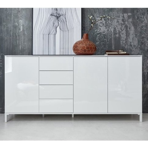 Sheldon Large Sideboard In White Gloss With 3 Doors ...