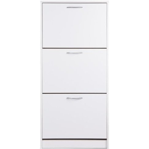 Montrose Shoe Cabinet In White With 3 Doors