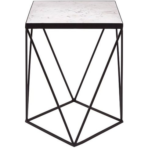 Sirius Square Base Side Table In Black