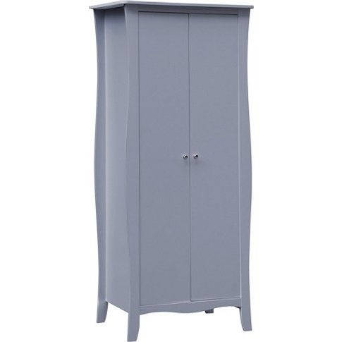 Skyler Wooden Wardrobe In Grey With 2 Doors