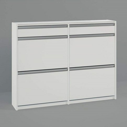 Skyline Wooden Chest Of Drawers In White With 6 Drawers