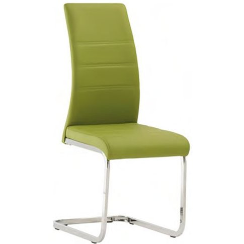Soho Faux Leather Dining Chair In Green