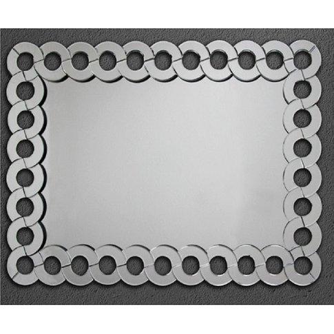 Swirl Wall Mirror Circular Edge Design