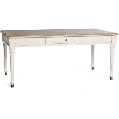 Spencer Wooden Coffee Table In White With 1 Drawer