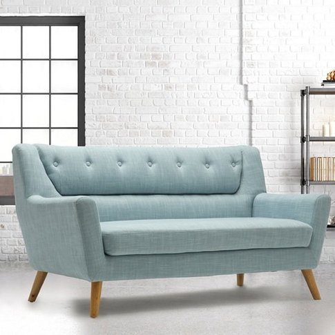 Stanwell 3 Seater Sofa In Duck Egg Blue Fabric With ...