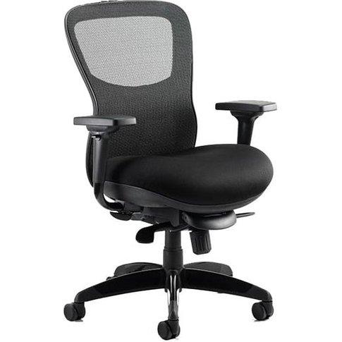 Stealth Shadow Ergo Fabric Office Chair In Black Air...