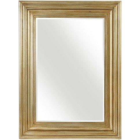 Stockholm Wall Mirror Rectangular In Gold Finish
