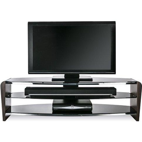 Sunbury Medium Wooden Tv Stand In Black With Black G...