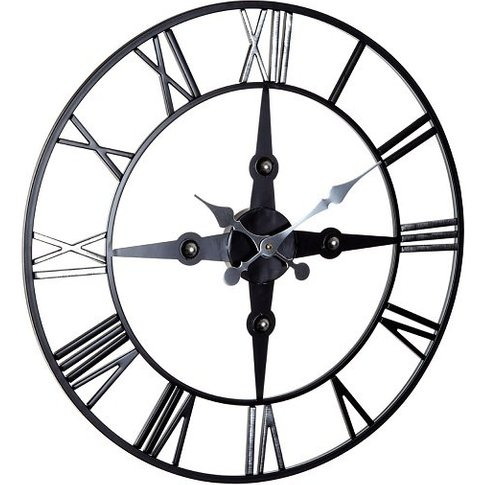 Symbia Metal Wall Clock Round In Black