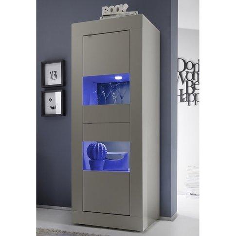 Taylor Display Cabinet In Matt Beige With 2 Doors An...