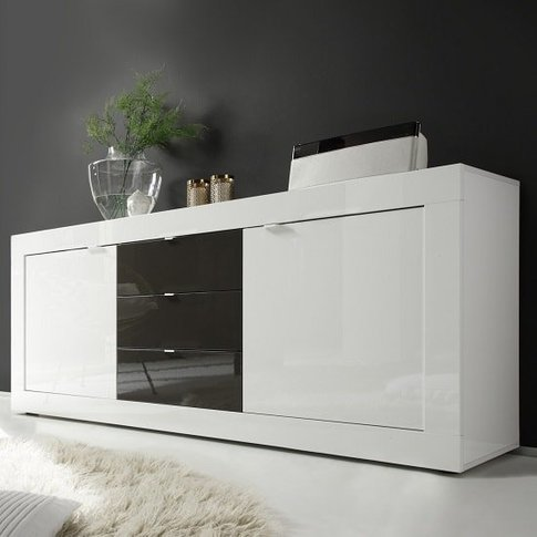 Taylor Large Sideboard In White And Anthracite High ...
