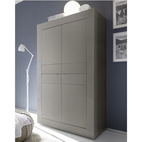 Taylor Modern Storage Cabinet In Matt Beige With 4 D...