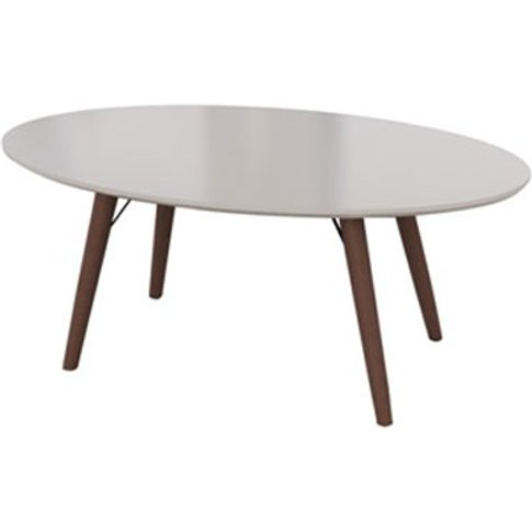 Teramo Coffee Table In Champagne High Gloss And Meta...