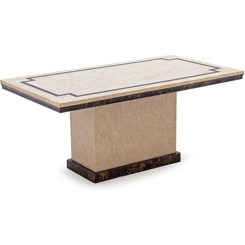 Trento High Gloss Marble Coffee Table In Beige And D...