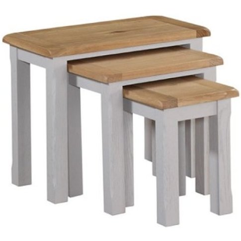 Trevino Nest Of Tables In Antique Grey Painted