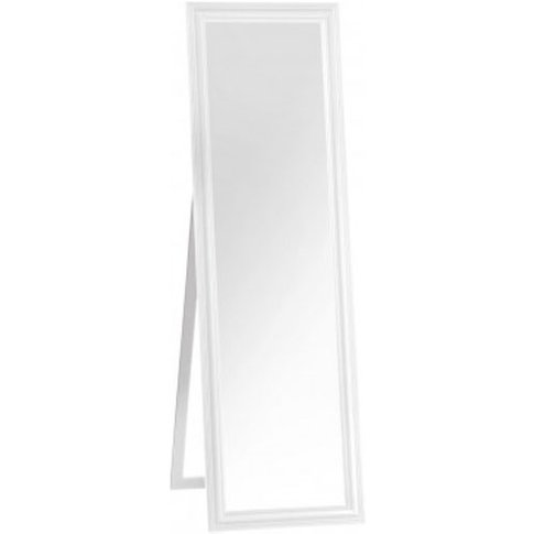 Urbana Floor Standing Cheval Mirror In White Frame