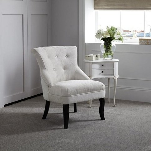 Urbino Fabric Lounge Chair In Pearl With Wooden Legs