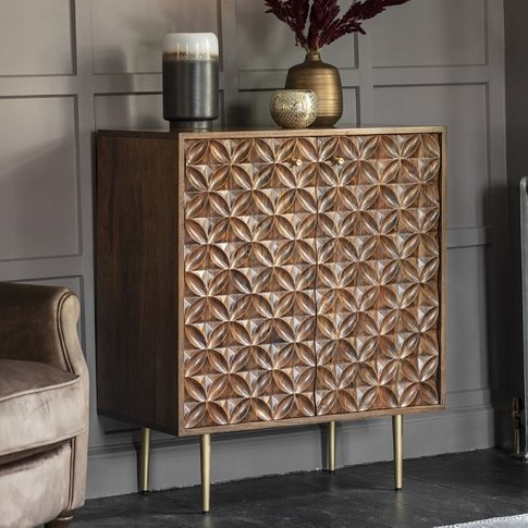 Urbino Sideboard In Nutty Brown With Brushed Bass Legs