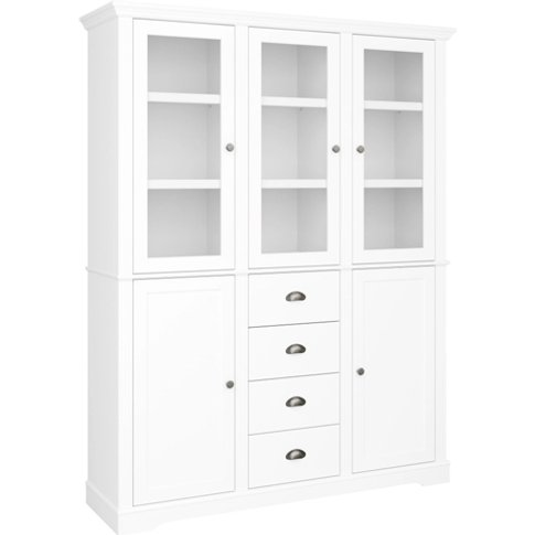 Venice Display Sideboard In White With 5 Doors And 4...