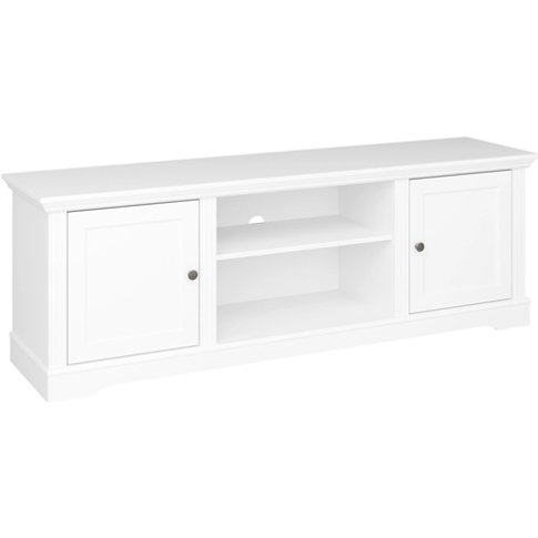 Venice Wooden Tv Cabinet In White With 2 Doors