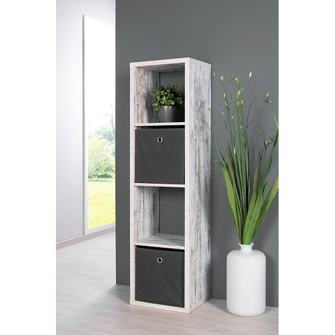 Version Shelving Unit In Fresco Oak With 4 Compartments