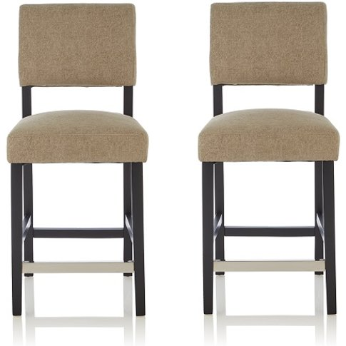Vibio Bar Stools In Sage Fabric And Black Legs In A ...