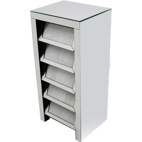 Vicenza Modern Mirrored Chest Of Drawers With 5 Drawers