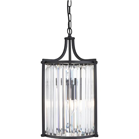 Victoria 2 Light Pendant Ceiling Light With Crystal ...