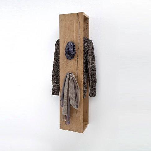 Viola Wooden Wall Mounted Coat Rack In Oak