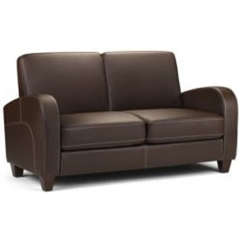 Viva Sofa Bed in Chestnut Faux Leather
