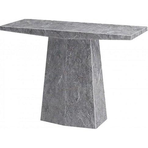 Vulcano Contemporary Marble Console Table Rectangula...