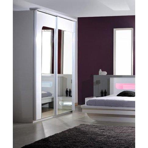 Pulse 2 Door High Gloss Wardrobe In White