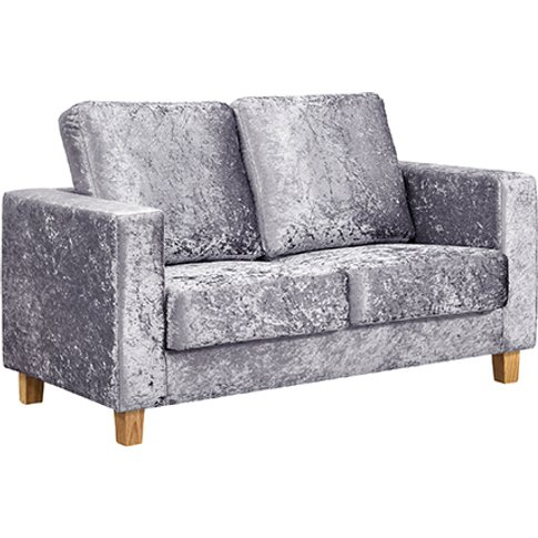Wasp Crushed Velvet 2 Seater Sofa In Silver