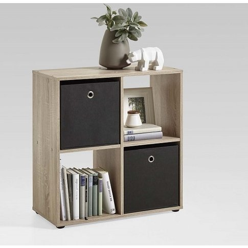 Westphalen Bookcase In Canadian Oak With 4 Compartments