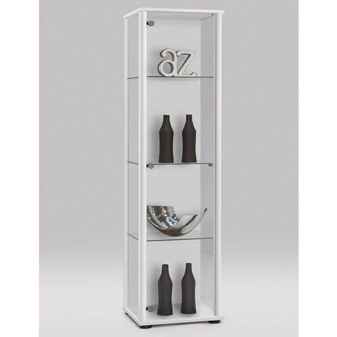 Marine Modern Glass Display Cabinet In White With Gl...