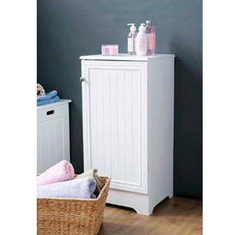 Wooden Bathroom Cabinet In White With 1 Door