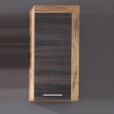 Wildon Storage Wall Cabinet In Walnut Touch Wood Dar...