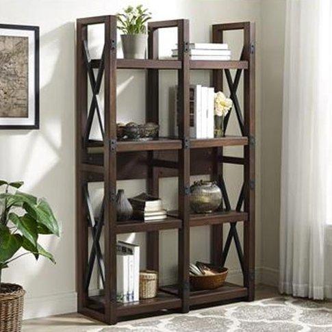 Wildwood Wooden Bookcase In Espresso