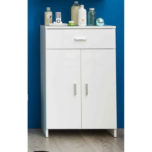 Wilmore Bathroom Cabinet In White With High Gloss Fr...