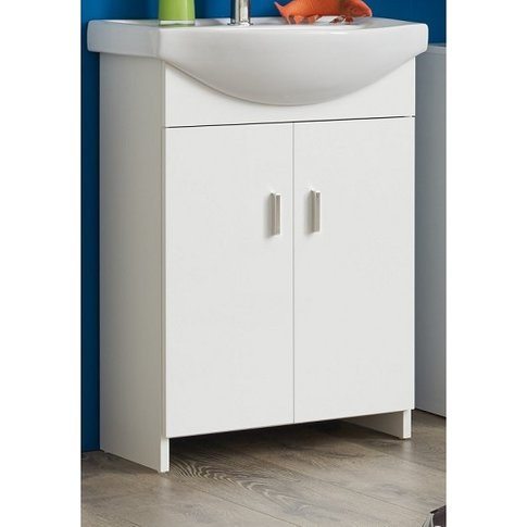 Wilmore Vanity Cabinet With Sink In White With High ...