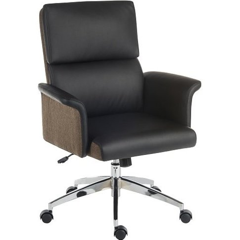 Wooster Executive Home Office Chair In Black Pu