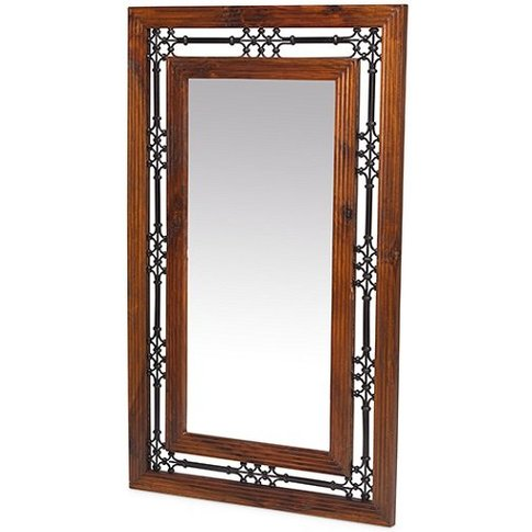 Zander Wooden Wall Mirror Tall In Sheesham Hardwood ...