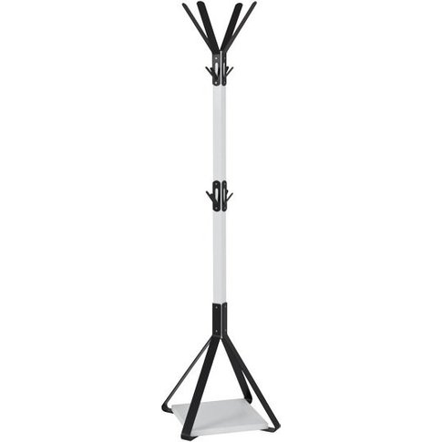 Zelena Metal Coat Stand In White And Black
