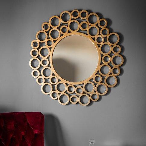 Zensen Stylish Wall Mirror Round In Gold