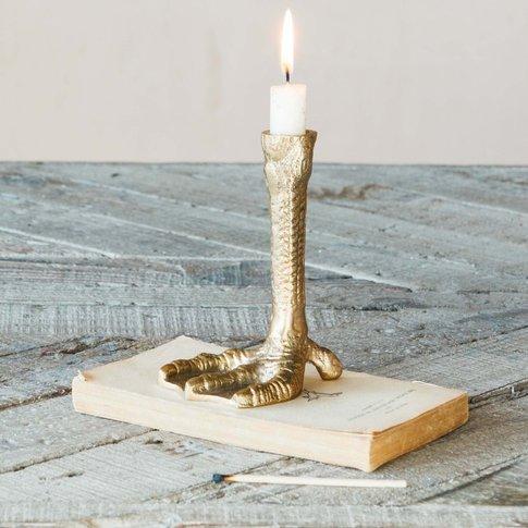 Gold Bird Feet Candle Holder