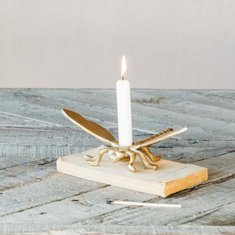 Diego Dragonfly Candle Holder