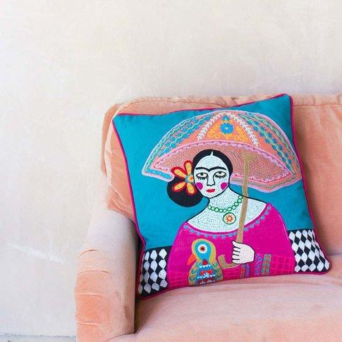 Mexicana Umbrella Cushion
