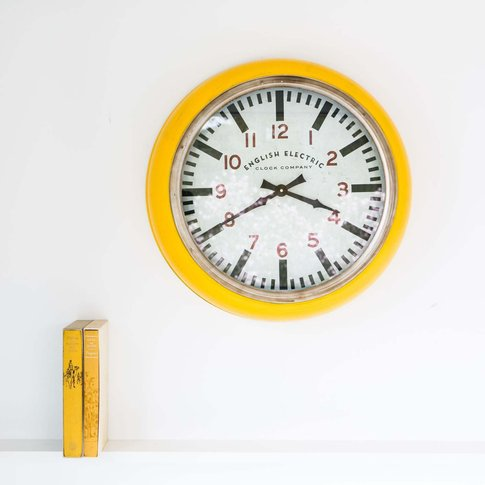 Large Yellow Wall Clock